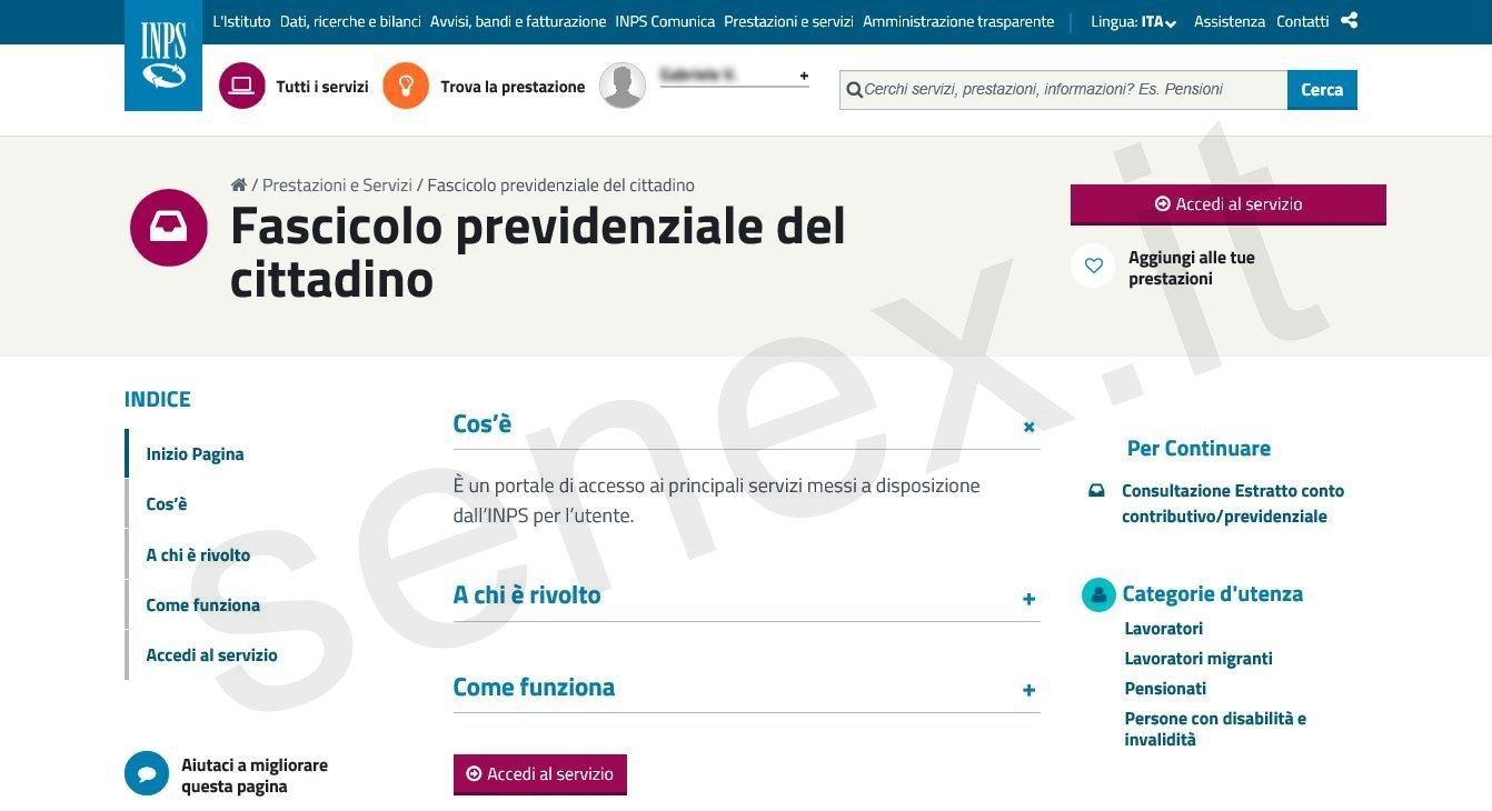 Curiosit e tutorial su informatica pubblica for Fascicolo previdenziale del cittadino