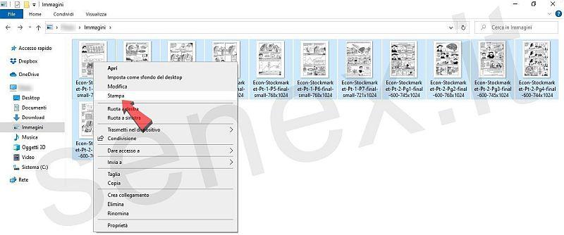 pdf da una cartella immagini