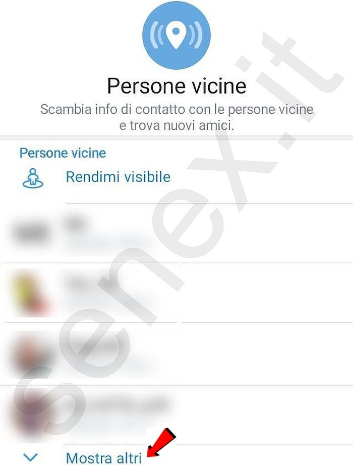 telegram persone vicine