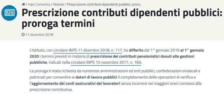 contributi dipendenti pubblici