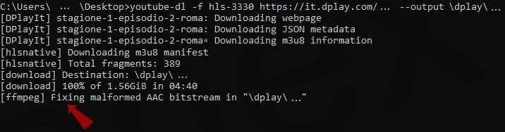 youtube-dl & ffmpeg