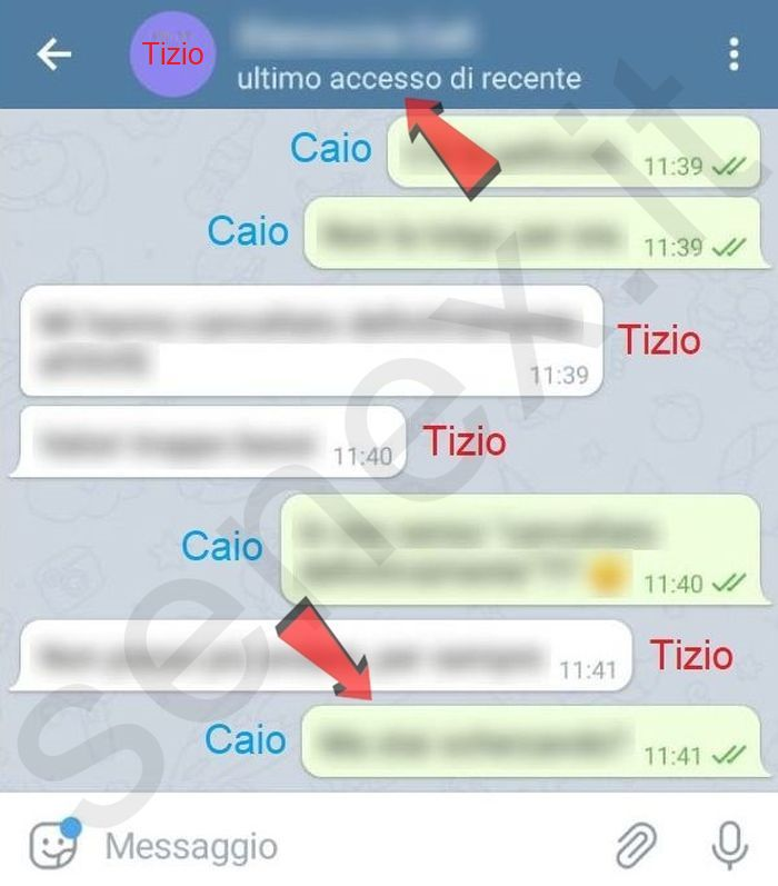 messaggi telegram di nascosto